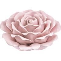Flor Rosa Em Cerâmica Mart