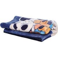 Cobertor Bebê Jolitex Raschel Disney Azul Marinho