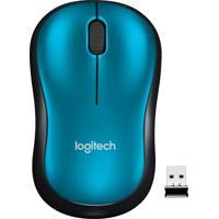 Mouse M185 Sem Fio Azul E Preto Logitech