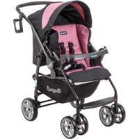 Carrinho De Bebê Passeio Burigotto At6 K Reclinável 4 Posições Para Crianças Até 15Kg - Unissex-Preto+Rosa