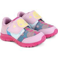 Tênis Infantil Ortopé Estampado Color Velcro Feminino - Feminino-Pink