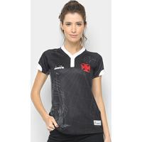 ab18aaf0df2e3 Netshoes  Camisa Vasco Iii 2018 S N° - Torcedor Diadora Feminina - Feminino