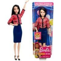 Boneca Barbie Colecionável Profissões Morena Oriental Quero Ser Candidata Política - Edição Especial 60 Anos - Brinquedo Unissex Criança Ideal Para Menino E Menina - Mattel