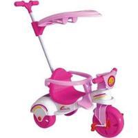 Triciclo Infantil Com Empurrador Xalingo - Unissex-Rosa