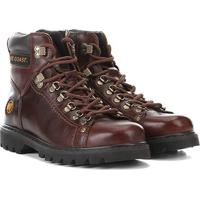 Bota Couro Coturno West Coast Worker Masculina - Masculino-Tabaco