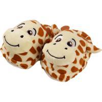 Pantufa Infantil Girafa - Unik Toys - 12_A_24_Meses