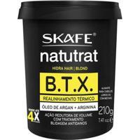 Alisante Para Os Cabelos Skafe - Btx Blond Naturat 210G - Unissex-Incolor