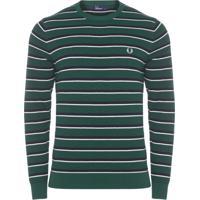Blusa Masculina Moletom Fine Stripe - Verde