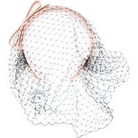 Red Valentino Headband Com Detalhe De Véu - Neutro