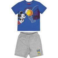 Conjunto Camiseta E Bermuda Azul