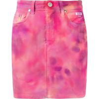 Msgm Saia Jeans Tie-Dye - Rosa