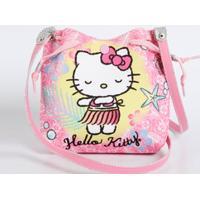 Bolsa Infantil Transversal Listrada Hello Kitty Sanrio