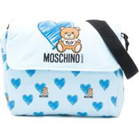 Moschino Kids Bolsa Maternidade Teddybear - Azul