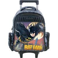 Mochila Com Rodinhas Infantil Xeryus Batman Gothan Guardian - Masculino-Preto