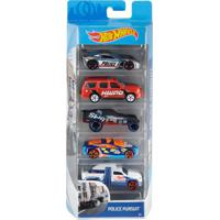 Carrinhos Hot Wheels Pack Com 5 Police Pursuit - Mattel