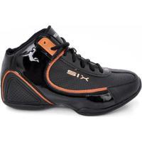 Tênis De Basquete D&R Shoes Masculino - Masculino-Preto+Laranja