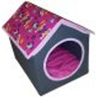Casinha Para Gatos E Cães - Organibobox - Pink Com Cachorrinhos.