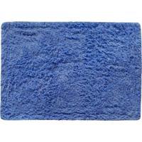Tapete Para Banheiro Indiano- Azul- 65X45Cm- Agiagi Tapetes
