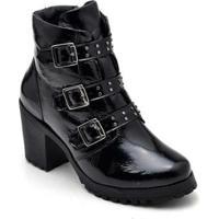 Bota Coturno Em Couro Trivalle Shoes Feminina - Feminino