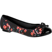 Sapatilha Feminina Floral Verniz Moleca 50271118