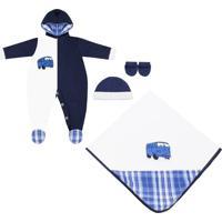 Saída Maternidade Padroeira Baby Luiz Gustavo Azul Marinho