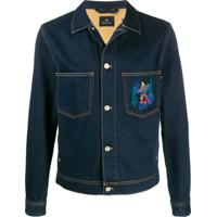 Ps Paul Smith Jaqueta Jeans Ufo - Azul