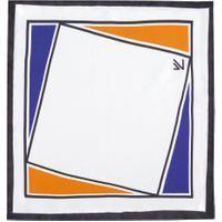 Lenço De Bolso Geométrico - Branco