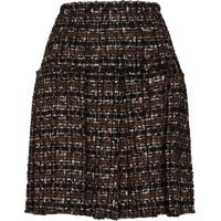 Dolce & Gabbana Pleated Tweed Skirt - Preto