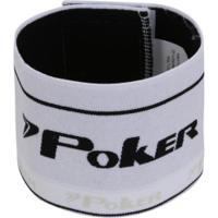 Braçadeira De Capitão Elástica Poker - Branco