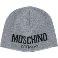 Moschino Gorro Com Logo - Cinza
