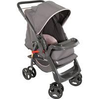 Carrinho De Bebê Com Encosto Regulável Maranello Ii-Galzerano - Cinza / Rosa
