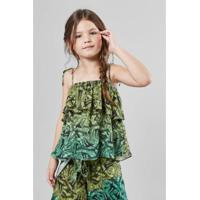 Blusa Infantil Bananal Reserva Mini Feminina - Feminino-Verde