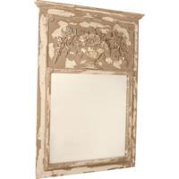 Espelho Decorativo Clássico Orleans De Parede Com Moldura De Madeira