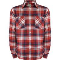 Camisa Gajang Flanelada Vermelho