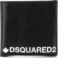 Dsquared2 Carteira De Couro Com Logo - Preto