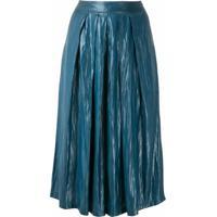 Uma | Raquel Davidowicz Saia-Calça Alfa Acetinada - Azul