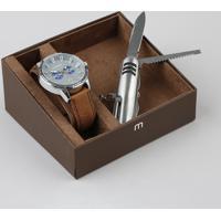 Kit De Relógio Analógico Mondaine Masculino + Canivete - 76693G0Mvnh2K Marrom - Único
