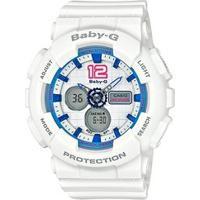 Relógio Baby-G Ba-120-7Bdr - Unissex-Branco