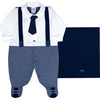 Saída De Maternidade Sonho Mágico Malha Company Azul Marinho