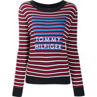 Tommy Hilfiger Suéter Com Listras - Preto