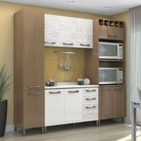 Cozinha Compacta Sense Nature Branco E Azulejo