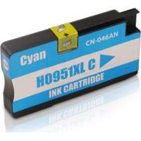 Cartucho Compatível Hp 951 Cn050Al Ciano, Impressora 8600 8100 8610 8620 8600 Plus 276Dw 251Dw