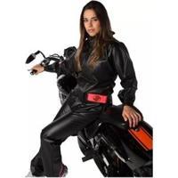 Capa De Chuva Alba Europa Pvc Motociclista Feminina - Feminino