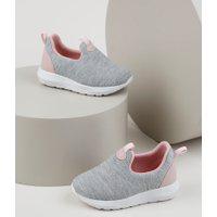 Tênis Infantil Baby Club Knit Calce Fácil Cinza