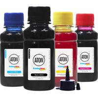Kit 4 Tintas Aton Para Bulk Ink Hp Gt51 Preta Gt52 Coloridas 100 Ml Corante