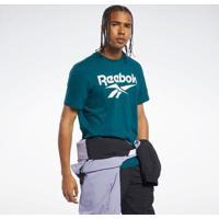Camiseta Reebok Classics Vector Masculina - Masculino-Verde