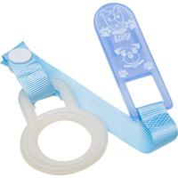 Prendedor De Chupeta Lolly Baby Color (C/ 2Un) Azul
