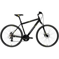 Bicicleta Merida Crossway 15 Md - Aro 700 - Freio A Disco Mecânico - Quadro 55Cm - 24 Marchas - Preto/Amarelo