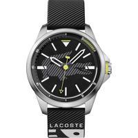 f1b7a10ef13 Relógio Lacoste Masculino Borracha Preta - 2010941