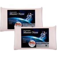 Kit Com 2 Peças Travesseiro Viscoelástico Master Nasa
